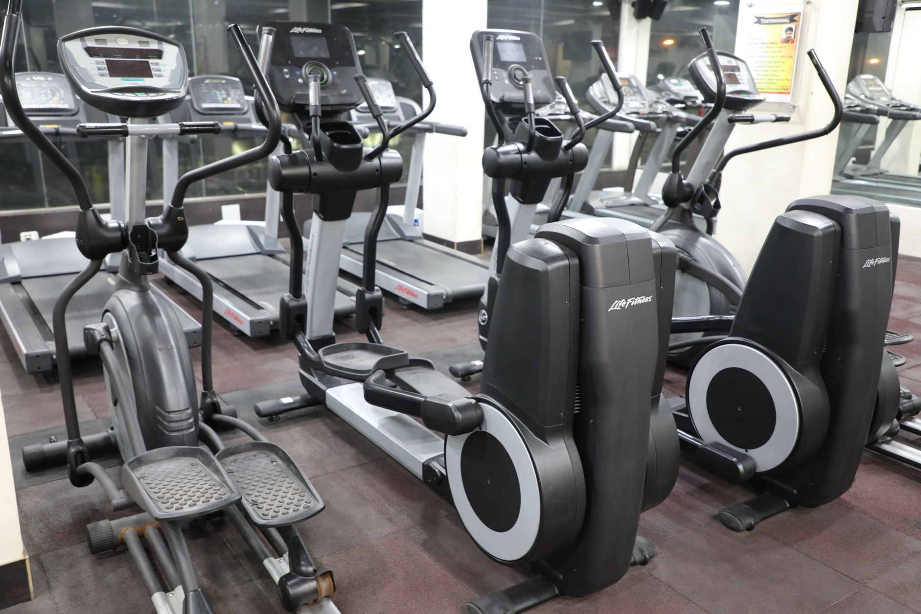 Cardio Equipment at S Square Fitness Club